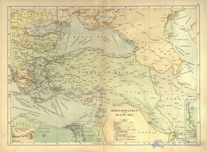 Map of the Mediterranean and the Black Sea